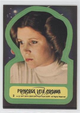 1977 Topps Star Wars Stickers #2 - Princess Leia Organa