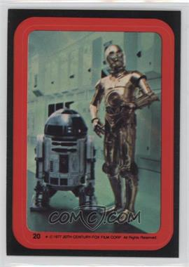 1977 Topps Star Wars Stickers #20 - C-3PO, R2-D2