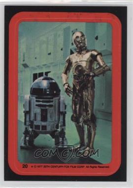 1977 Topps Star Wars Stickers #20 - C-3PO, R2-D2
