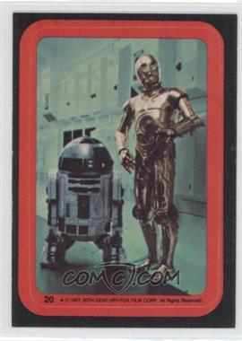 1977 Topps Star Wars Stickers #20 - See-Threepio, Artoo-Detoo