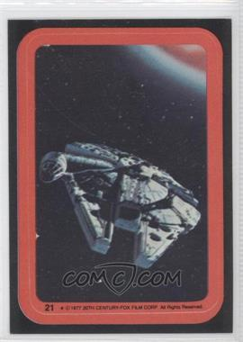 1977 Topps Star Wars Stickers #21 - Millenium Falcon