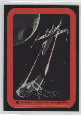 1977 Topps Star Wars Stickers #22 - X-Wing, Tie Fighter