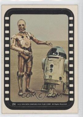 1977 Topps Star Wars Stickers #24 - See-Threepio, Artoo-Detoo