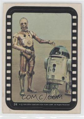 1977 Topps Star Wars Stickers #24 - See-Threepio, Artoo-Detoo
