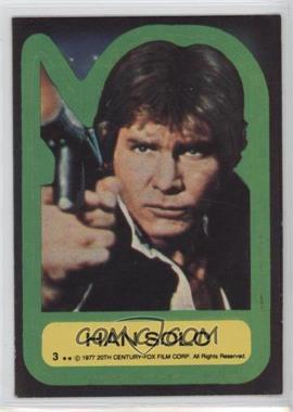 1977 Topps Star Wars Stickers #3 - Han Solo
