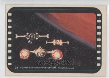 1977 Topps Star Wars Stickers #32 - Y-Wing, X-Wing