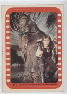 1977 Topps Star Wars Stickers #34 - Chewbacca and Han