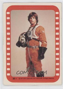 1977 Topps Star Wars Stickers #36 - Luke Skywalker [Good to VG‑EX]