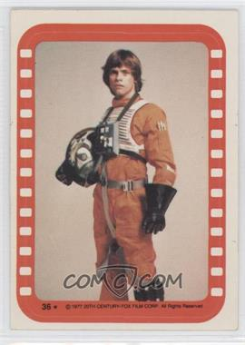 1977 Topps Star Wars Stickers #36 - Luke Skywalker