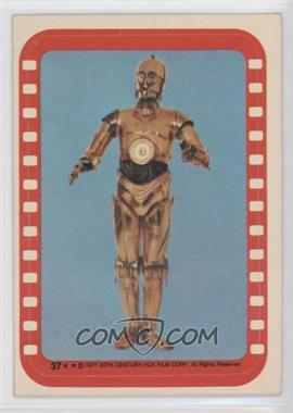 1977 Topps Star Wars Stickers #37 - See-Threepio