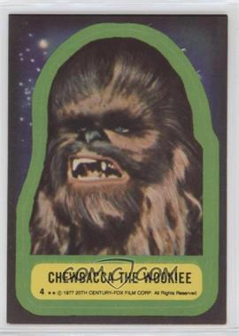 1977 Topps Star Wars Stickers #4 - Chewbacca the Wookiee
