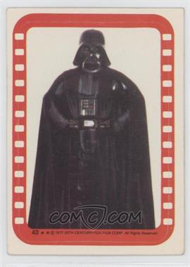 1977 Topps Star Wars Stickers #40 - Lord Darth Vader [Good to VG‑EX]