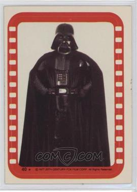 1977 Topps Star Wars Stickers #40 - Lord Darth Vader