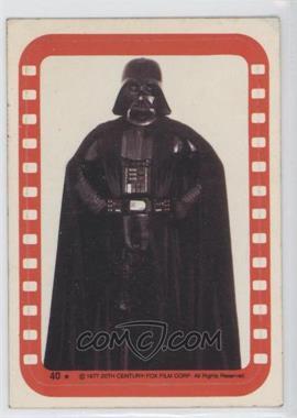 1977 Topps Star Wars Stickers #40 - Lord Darth Vader [GoodtoVG‑EX]