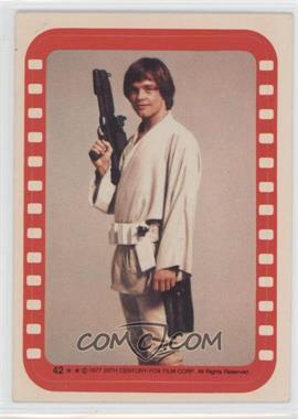 1977 Topps Star Wars Stickers #42 - Luke Skywalker [Good to VG‑EX]