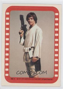 1977 Topps Star Wars Stickers #42 - Luke Skywalker