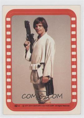 1977 Topps Star Wars Stickers #42 - Luke Skywalker [GoodtoVG‑EX]