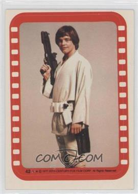 1977 Topps Star Wars Stickers #42 - Luke Skywalker