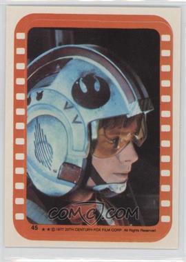 1977 Topps Star Wars Stickers #45 - Luke Skywalker