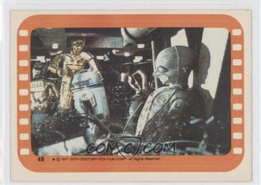 1977 Topps Star Wars Stickers #48 - Inside the Sandcrawler