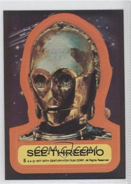 1977 Topps Star Wars Stickers #5 - [Missing]