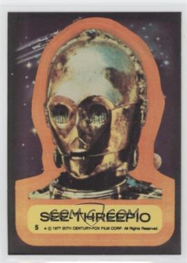 1977 Topps Star Wars Stickers #5 - See-Threepio