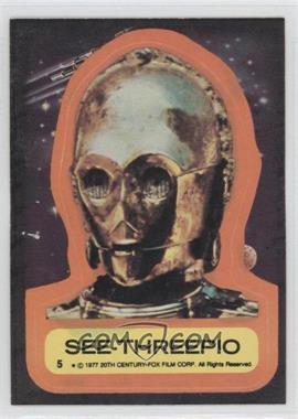 1977 Topps Star Wars Stickers #5 - See-Threepio