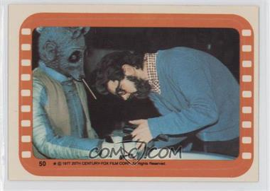 1977 Topps Star Wars Stickers #50 - George Lucas and Greedo