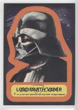 1977 Topps Star Wars Stickers #7 - Lord Darth Vader