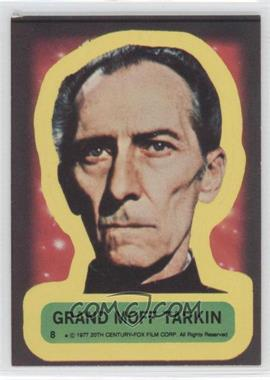 1977 Topps Star Wars Stickers #8 - Grand Moff Tarkin