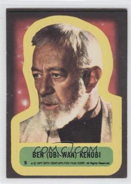 1977 Topps Star Wars Stickers #9 - Ben (Obi-Wan) Kenobi