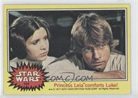 Princess Leia comforts Luke!