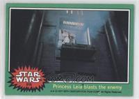 Princess Leia Blasts the Enemy