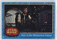 Han in the Millennium Falcon