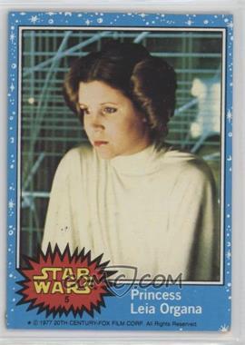 1977 Topps Star Wars #5 - Princess Leia Organa