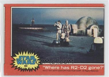 "1977 Topps Star Wars #80 - ""Where has R2-D2 gone?"" [Good to VG‑EX]"