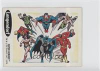 Green Lantern, Superman, Hawkman, Elongated Man, Flash, Batman, Wonder Woman, R…