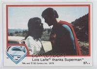 Lois Lane thanks Superman