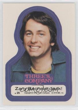1978 Topps Three's Company - Stickers #26 - Zany Bachelor Jack!