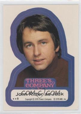 1978 Topps Three's Company - Stickers #8 - John Ritter as Jack