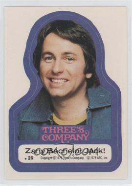 1978 Topps Three's Company Stickers #26 - Zany Bachelor Jack!