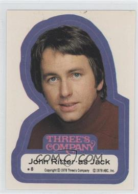 1978 Topps Three's Company Stickers #8 - John Ritter as Jack