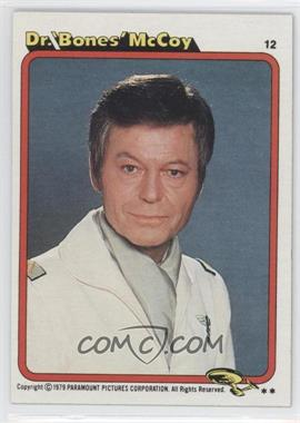 1979 Topps Star Trek: The Motion Picture - [Base] #12 - Dr. 'Bones' McCoy