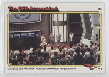 1979 Topps Star Trek: The Motion Picture - [Base] #23 - The UFP Assembled