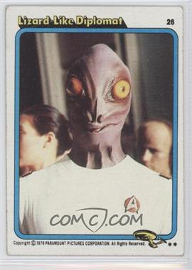 1979 Topps Star Trek: The Motion Picture - [Base] #26 - Lizard Like Diplomat [Good to VG‑EX]