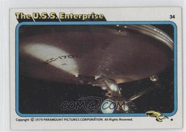 1979 Topps Star Trek: The Motion Picture - [Base] #34 - The U.S.S. Enterprise