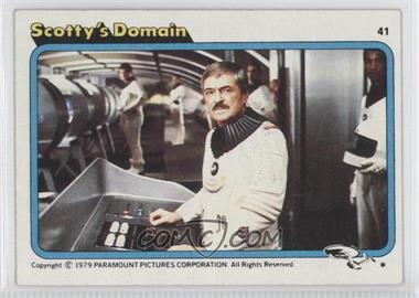 1979 Topps Star Trek: The Motion Picture - [Base] #41 - Scotty's Domain