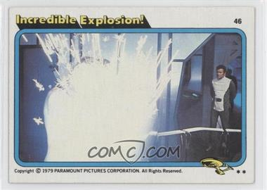 1979 Topps Star Trek: The Motion Picture - [Base] #46 - Incredible Explosion!