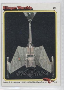 1979 Topps Star Trek: The Motion Picture - [Base] #79 - Klingon Warship