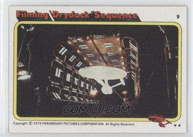 1979 Topps Star Trek: The Motion Picture - [Base] #9 - Filming 'Drydock' Sequence